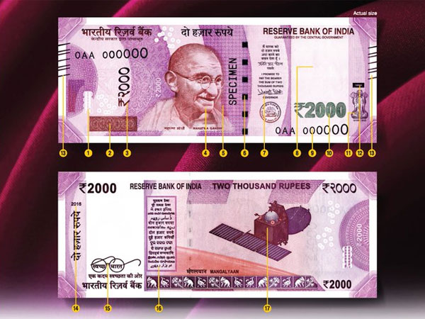 Rs 3 lakh paid to officials with new Rs 2,000 notes