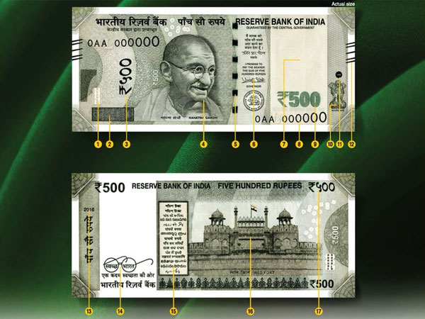 Features of new Rs. 2,000, 500 notes