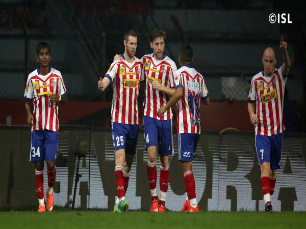 Atletico de Kolkata players celebrate (Image courtesy: ISL Twitter handle)