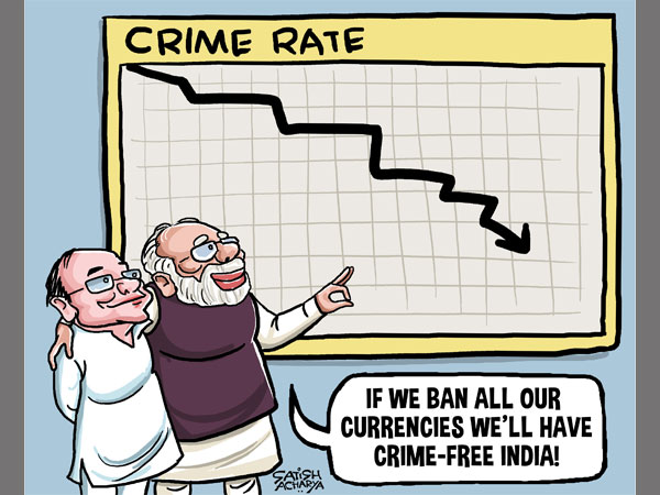 CARTOON: Has demonetisation brought down crime rates?