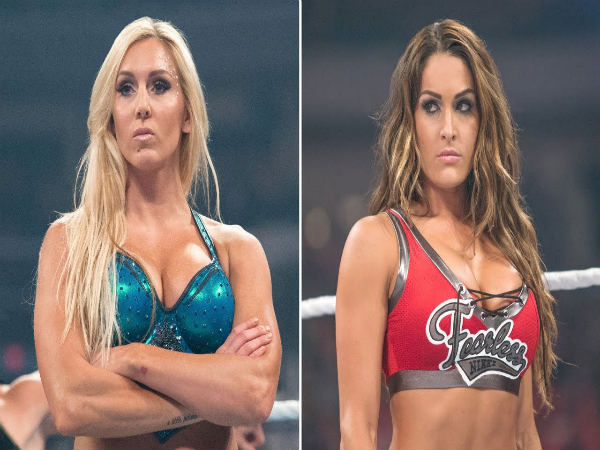 Charlotte Flair (left) and Nikki Bella (Image courtesy: Youtube)