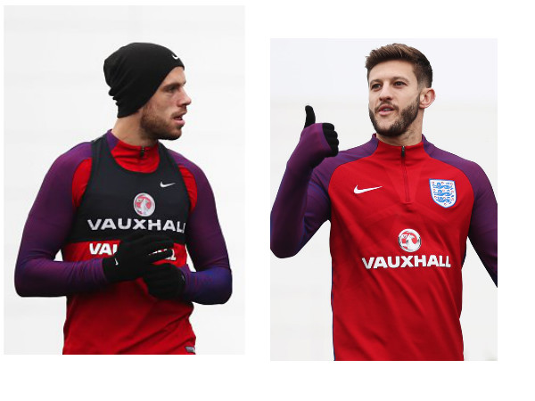 Jordan Henderson and Adam Lallana (Image courtesy: Twitter)