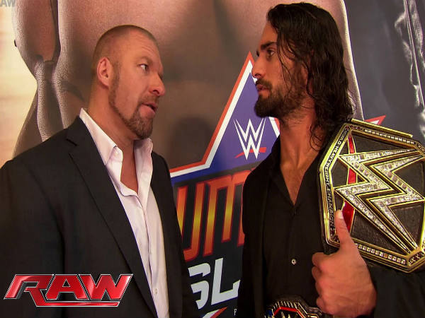 Triple H with Seth Rollins (Image courtesy: Youtube)