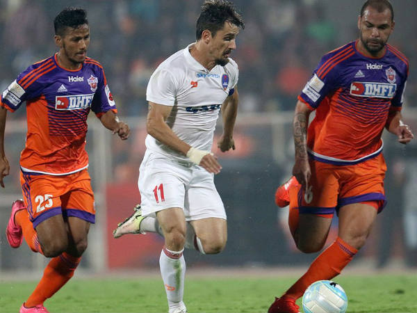 Delhi Dynamos Vs FC Pune City (Image courtesy: ISL Twitter handle)