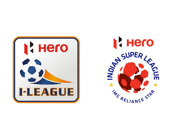 From left: I-League and ISL official logos