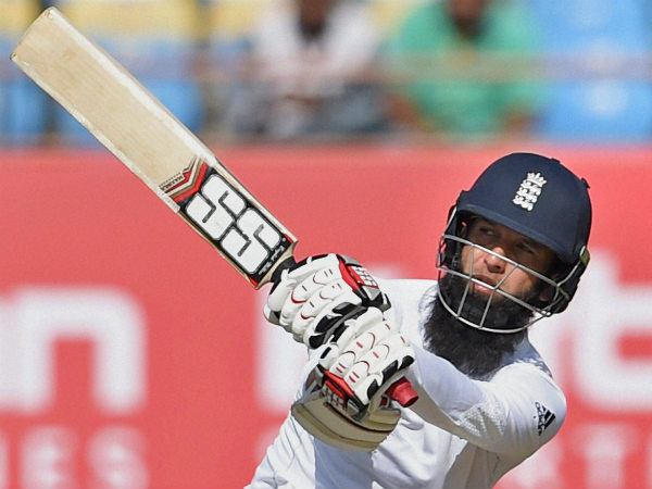 Moeen Ali plays a shot en route to 99 not out