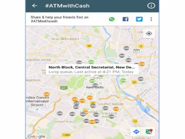 Demonetisation: Now An app to track ATM with cash..