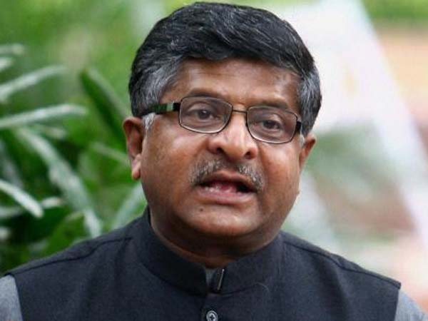 Union Information and Technology Minister Ravi Shankar Prasad