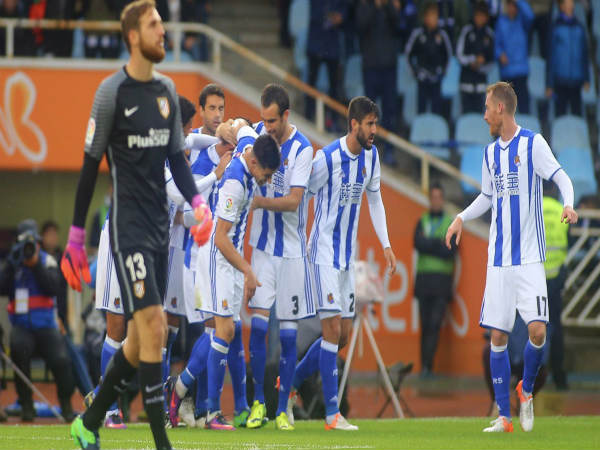 Real Sociedad players celebrate (Image courtesy: Real Sociedad Twitter handle)