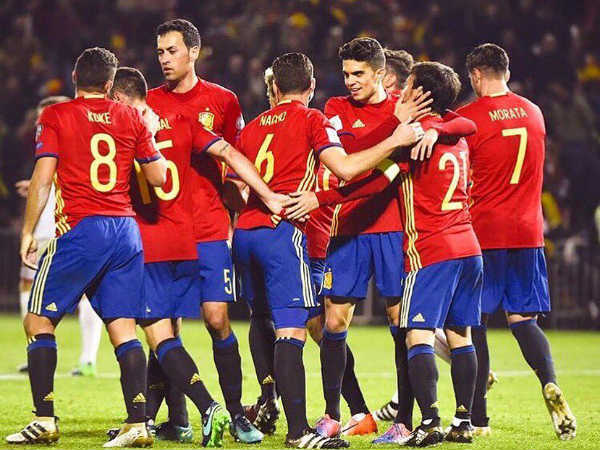 Spain Football Team (Image courtesy: Marc Bartra Twitter handle)