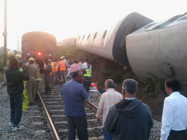 Goods train derails on Jind-Rohtak section