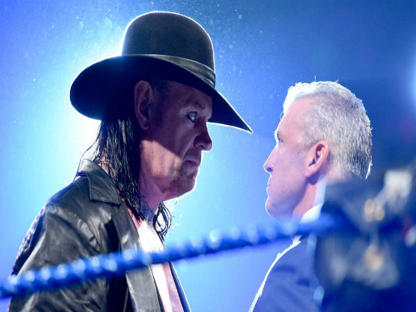 Undertaker face to face with Shane McMahon (Image courtesy wwe.com)