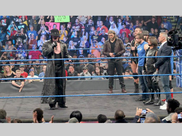 Undertaker on Smackdown Live (image courtesy WWE.com)