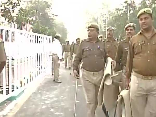 High security during the Vikas Rath Yatra