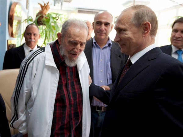 Fidel Castro with world leaders