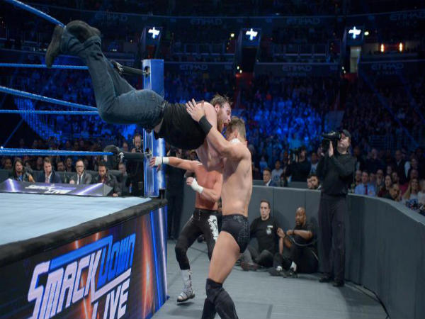 Fatal-4-way on Smackdown (image courtesy WWE.com)