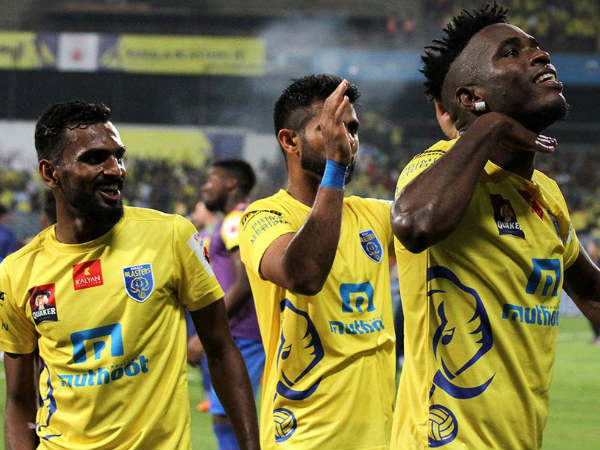 Kerala Blasters players celebrate