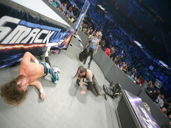 AJ Styles beats up Corbin & Ziggler (Image courtesy: wwe.com)