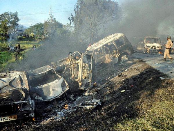 Angry mob torched several vehicles
