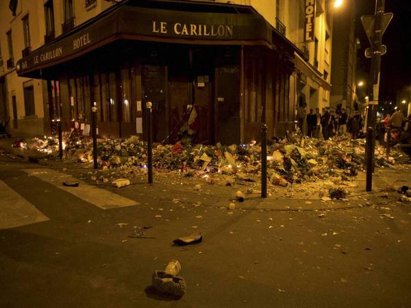 Deserted markets after Paris attack