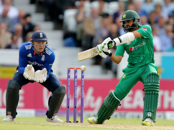 File photo: Babar Azam bats against England in a ODI