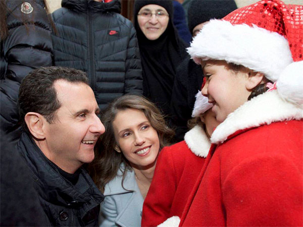 Assad visits orphanage on Xmas Day
