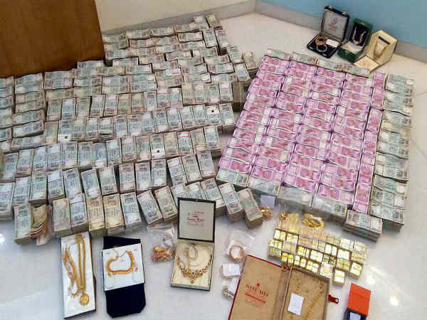 cash and gold seized