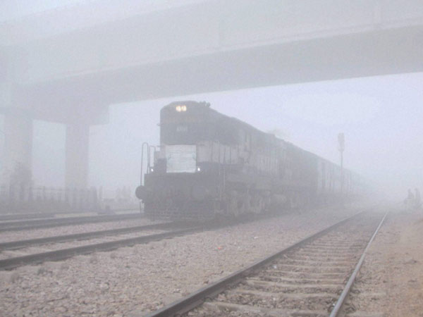 42 trains delayed due to fog