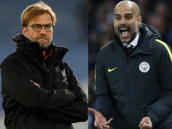 From left: Jurgen Klopp and Pep Guardiola