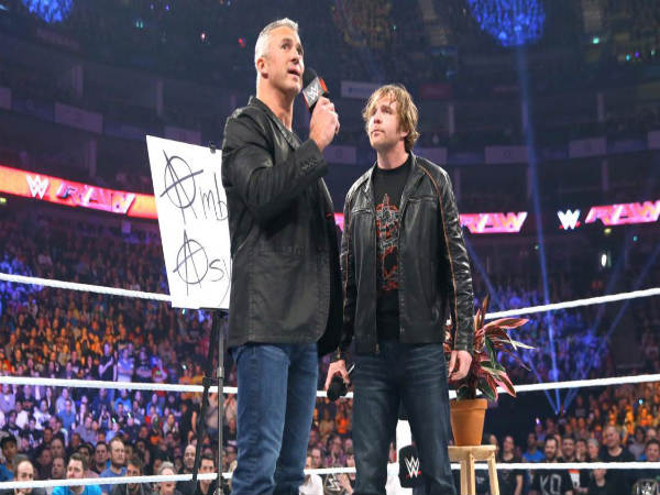 Shane O Mac on the Ambrose Asylum (Image courtesy WWE.com)