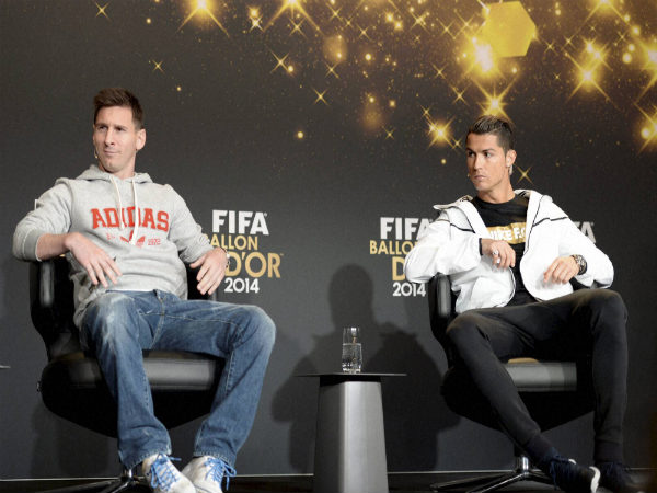 From left: Lionel Messi and Cristiano Ronaldo
