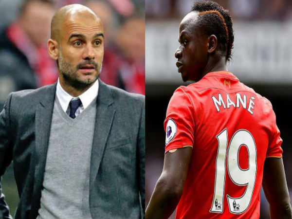 From left: Pep Guardiola and Sadio Mane