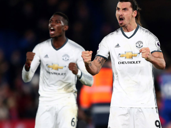 From left: Paul Pogba and Zlatan Ibrahimovic (Image courtesy: Manchester United Twitter handle)