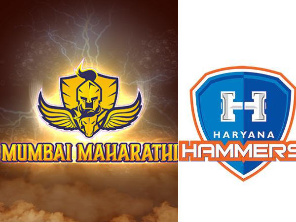 Mumbai Maharathi official logo (left) and Haryana Hammers