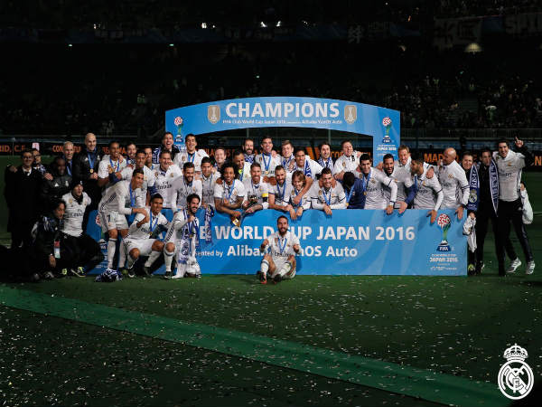 Club World Cup champions Real Madrid (Image courtesy: Real Madrid Twitter handle)