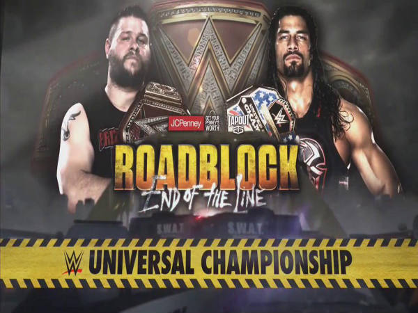 Main event of Roadblock PPV (Image courtesy: WWE Twitter)