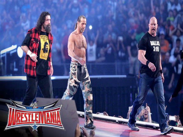 From left: Mick Foley, Shawn Michaels and Stone Cold (Image courtesy: Youtube)
