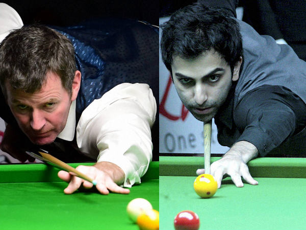 From left: Peter Gilchrist and Pankaj Advani