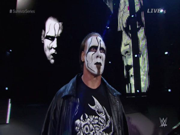 Sting during his WWE debut (Image courtesy: Youtube)