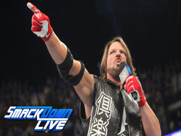 AJ Styles on Smackdown Live (Image courtesy: Youtube)