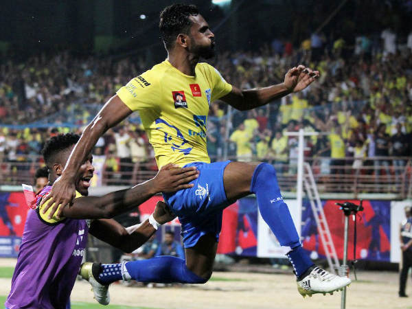 CK Vineeth celebrates (Image courtesy: ISL Twitter handle)