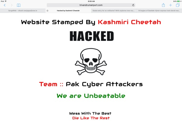 Websites hacked