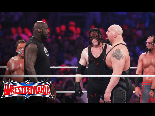 The retirement match for the big show at Wrestlemania (image courtesy Youtube)