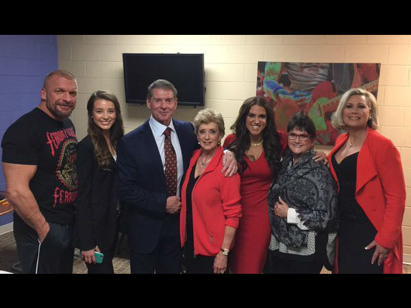 The McMahon family (image courtesy Twitter)