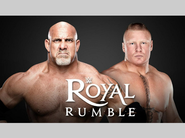 Goldberg and Lesnar both to enter the Royal Rumble (image courtesy WWE.com)