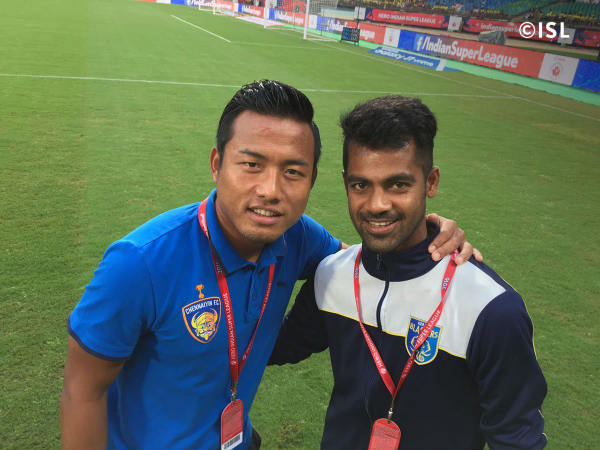 Mohammed Rafique (right) (Image courtesy: ISL Twitter handle)