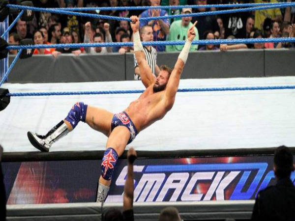 The nasty landing cost Zack Ryder, badly (Image courtesy: wwe.com)