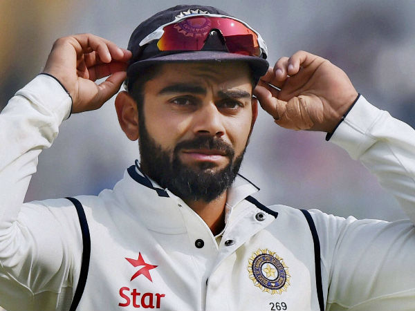 Virat Kohli is pictured during the 3rd India-England Test in Mohali recently