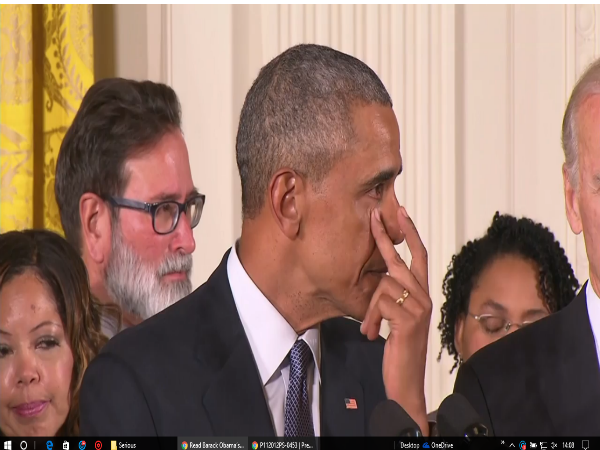 Obama cries while talking about gun violence