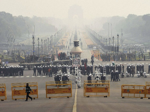 Full dress rehearsal for Republic Day parade
